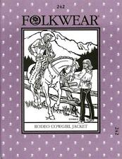 Western Rodeo Cowgirl Jacket Folkwear 242 Sewing Riding Costume Pattern