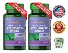 2 X Puritan's Pride Saw Palmetto Male Prostate Urinary Health 1000 mg 90 softgel