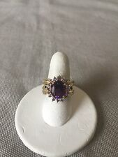 Amethyst And Tanzanite Ring Size 5 10K Yellow Gold