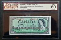 1954 Bank of Canada $1 Replacement Note *M/Y 0157717 BCS UNC-60 Original BC-37bA