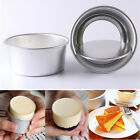 "5pc 2"" Removable Bottom Round Cake Baking Mould Pan Tin Mold Bakeware Tray Tools"