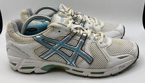 ASICS Gel Kayano Walker Women's Size 11 Walking Shoes QN853 White Green Aqua