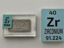 WHOLESALE 12 x 1 Gram Rare Buffalo Zirconium INGOT 999 Periodic Element tiles