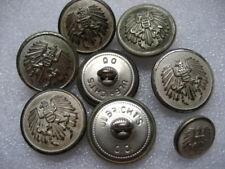 .Vintage Uniform Buttons Austria lot of 9,silver color