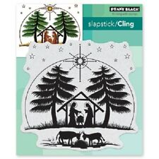 PENNY BLACK RUBBER STAMPS SLAPSTICK CLING NATIVITY NEW cling STAMP