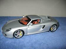 PORSCHE CARRERA GT AUTOART 1:18 SCALE SILVER OPENING HOOD DOORS & TRUNK
