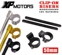 "50mm Billet 1"" Riser Clip-On Handlebars Honda CBR929 CBR954 CBR1000RR RC45 RC50"