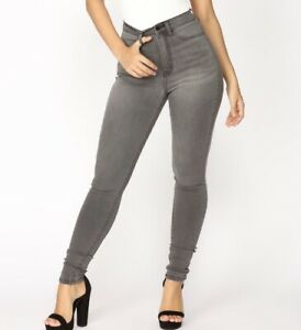 Fashion Nova Gray Skinny Jeans NWT