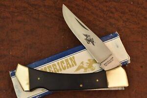 AMERICAN BLADE CHATT. TN. SMOOTH WOOD JUMBO LOCKBACK KNIFE AB-7 NICE (8339)
