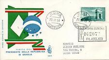 Repubblica Italiana 1958 FDC Venetia Club Amicizia Italo-Brasiliana Racc. (E)