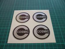 Cosmic Wheel Centre Stickers x4 Black & Silver - 50mm
