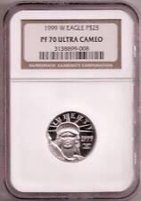 1999 NGC PR70UCAM $25  PLATINUM AMERICAN EAGLE COIN