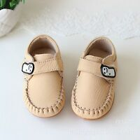Baby Boy Kids Child Toddlers Leather Soft Comfortable rubber bottom First Shoes