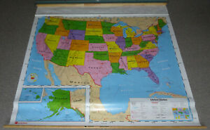 Nystrom United States School Pull Down Map, 1NS1