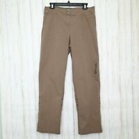 Chicos Brown Cotton Pants Size 1 Womens 8 or Medium Cuffed to Capris Crop