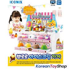Pororo Friends Ice Cream Store Shop Pretend Play Set w/ Sound Effect Korean Toy