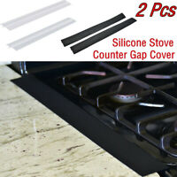 2PCS Kitchen Silicone Stove Counter Cover Easy Clean Heat-resistant Slit
