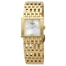 Tissot Six-T Mother of Pearl Dial Gold-Tone Ladies Watch T02.5.181.85