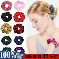 Women Scrunchies Ponytail Holder Hair Band Bun Tie Bow Elastic Rope Accessories