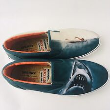 """SPERRY TOP SIDER """"JAWS"""" COLLECTORS EDITION SIZE 9 MENS SLIP ON BOAT SHOES"""