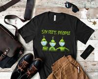 Six Feet People Shirt Grinch Social Distance Grinch Wear Mask Grinch Anti Kovid