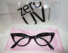 ZeroUV Retro Rhinestone Accents Cat Eye Glasses Eyeglasses Clear plastic lens
