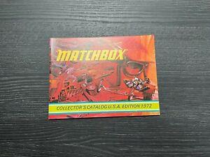 MATCHBOX COLLECTOR CATALOG 1972