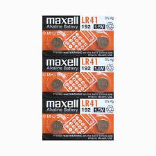 Genuine Maxell LR41 Ag3 192 Alkaline 1.5v Battery (pack of 10)