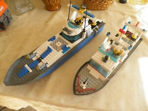 lego city lots bateaux police déjà monté