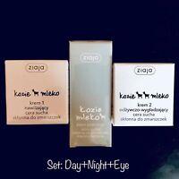 ZIAJA Goat's Milk Bundle: Day, Night & Eye Cream KOZIE MLEKO