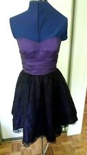 NWOT Betsey Johnson formal layered lace purple black party prom dress gown 4