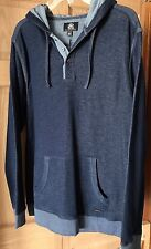 Mens Rock & Republic Large Pullover Hooded Sweatshirt Blue NEW