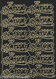 alter Bogen Dresdner Pappe Ornamete Schrift, Happy Birthday -  DRESDEN ORNAMENTS