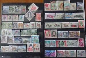 MONACO, lot de timbres à examiner