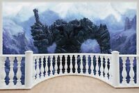 Huge 3D Balcony Fantasy Warriors In Snow Wall Stickers Wallpaper 1017