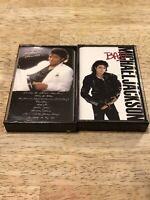 Lot 2 Vintage MICHAEL JACKSON Cassette Tapes BAD THRILLER
