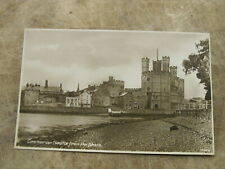 Early Postcard - Carnarvon Castle from Shore Line - North Wales