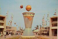 Vintage Postcard Disneyland Tomorrowland Entrance Clock of the World