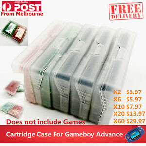 Clear Protective Game Storage Case Cover For Nintendo GameBoy Advance GBA SP