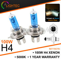 VW POLO H4 100W HID WHITE XENON PLASMA HALOGEN BULBS 12V PLASMA UPGRADE 6000k