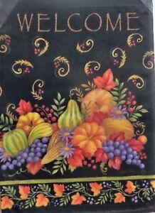 """Glorious Fall Elegant Garden Flag by Toland, 12.5"""" x 18"""",  #3015"""