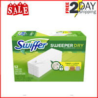Swiffer Sweeper Dry Mop Pads Multi-Surface Refills Dirt Deep In Cloth Pad 52PACK
