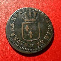 #1621 - RARE - Louis XVI Sol 1784 K Bordeaux Belle qualité - FACTURE