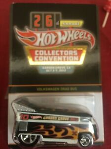 Hot Wheels 2012 26th Collector's Convention Dinner Volkswagen VW Drag Bus