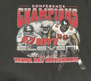 Vintage 2002 Tampa Bay Buccaneers Conference Champions NFL Sapp T-Shirt Men's XL