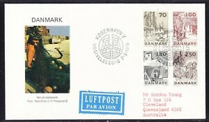 Denmark 1978 Fishing Industry  First Day Cover to Australia