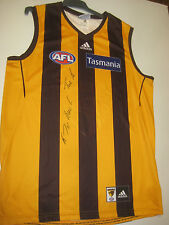 HAWTHORN- MICHAEL TUCK HAND SIGNED HOME JERSEY UNFRAMED