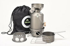 Ghillie Kettle 1.0L Explorer Full Kit + Hobo Stove hard Anodised