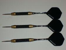 Steel Tip Darts, Used 25 Gram Brass, with New Aluminum Shafts & Flights #2758