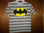 DC Comics Batman striped logo T-Shirt Size S 4 M 5-6 L 7 NWT Youth
